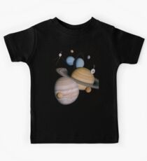 VOYAGER, Planets, Moons, the two spacecraft have visited Kids Tee