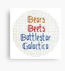 The Classic - Bears, Beets, Battlestar Galactica Canvas Print