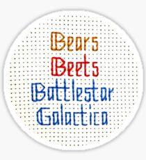 The Classic - Bears, Beets, Battlestar Galactica Sticker