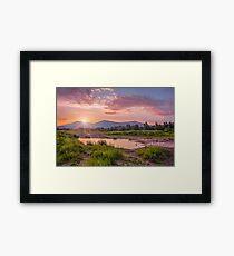 Sunrise over the Little Beskids Framed Print