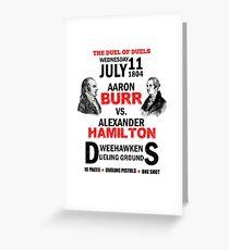 Burr Vs Hamilton Greeting Card