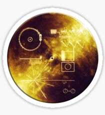 VOYAGER, Space, Golden Record, Spacecraft, Message to Aliens Sticker