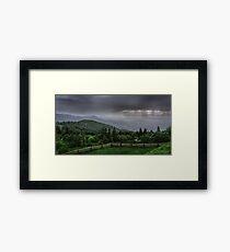 Rain over the Silesian Beskids Framed Print