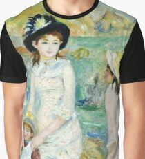 Renoir Auguste - Children on the Seashore, Guernsey (about 1883)  Graphic T-Shirt