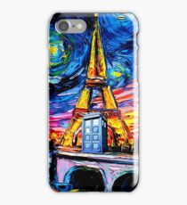 tardis starry night in the paris iPhone Case/Skin