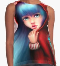 Red Riding Hood - Skater Girl in Forest Contrast Tank