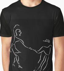 Lindy Hop Jitterbug Minimalist Art Graphic T-Shirt