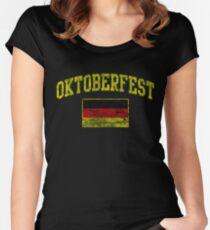 Vintage Oktoberfest German Flag  Women's Fitted Scoop T-Shirt