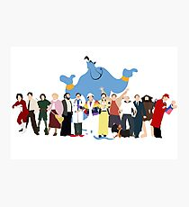 Even More Minimalist Robin Williams Character Tribute Photographic Print