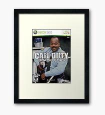 Carl on Duty: Black Cops Framed Print