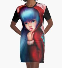 Red Riding Hood - Skater Girl in Forest Graphic T-Shirt Dress