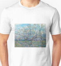 Vincent Van Gogh - Orchard With Blossoming Plum Trees, 1888 Unisex T-Shirt