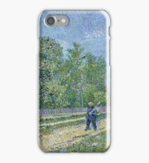 Vincent Van Gogh - Man With Spade In A Suburb Of Paris, 1887 iPhone Case/Skin