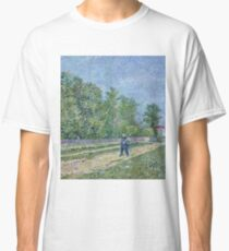 Vincent Van Gogh - Man With Spade In A Suburb Of Paris, 1887 Classic T-Shirt