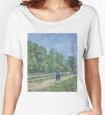 Vincent Van Gogh - Man With Spade In A Suburb Of Paris, 1887 Women's Relaxed Fit T-Shirt