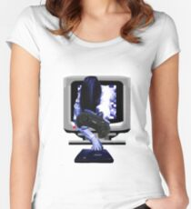 Sadako MegaDrive Women's Fitted Scoop T-Shirt