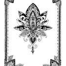 Zendoodle lotus flower III by tekslusdesign
