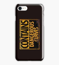 Contains Dangerous Curves Warning Sign iPhone Case/Skin