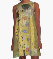 Gustav Klimt - The Kiss A-Line Dress