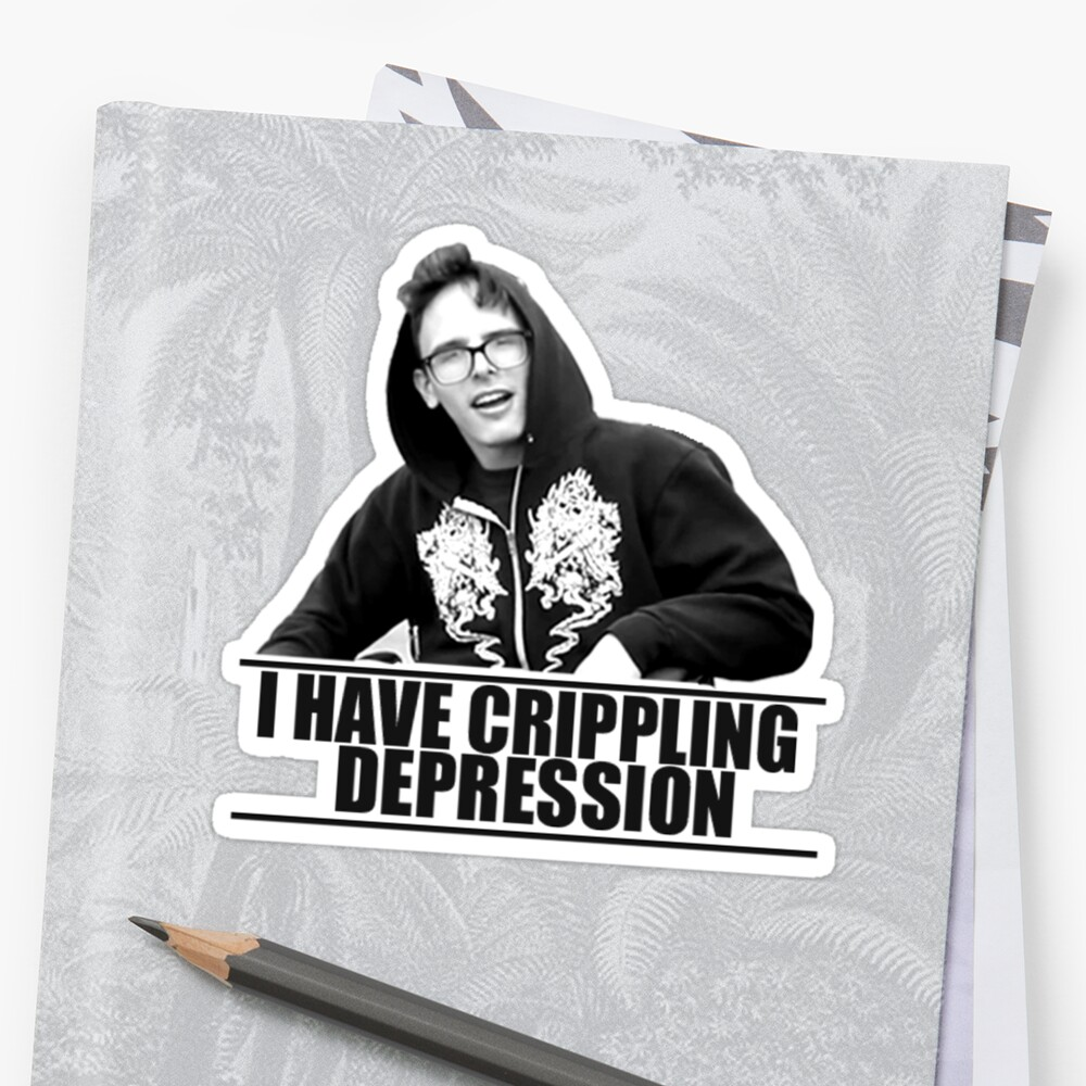 """I Have Crippling Depression IDubbbzTV"" Stickers by ..."