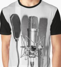 Microphone , sound recording equipment for singing Graphic T-Shirt