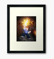 Fighting For Love - Minecraft Song Framed Print