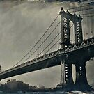 Manhattan Bridge 4x5 wet plate collodion tintype by ShellyKay
