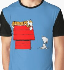 SNOOPY VS HOBBES Graphic T-Shirt