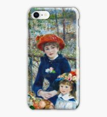 Renoir Auguste - Two Sisters (On the Terrace) (1881)  iPhone Case/Skin