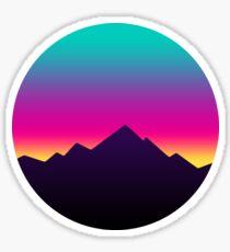 Retro Sunset Sticker