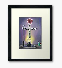 Bunsen Burner Flower Pot Framed Print
