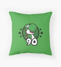 Video Game Heroes - Yoshi (1990) Throw Pillow