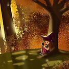 Autumn Reading by arondraws