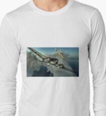 Hurricane / HE 111 World War 2 Art - Digital Painting Long Sleeve T-Shirt
