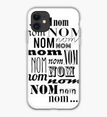 Om Nom Nom iPhone Case