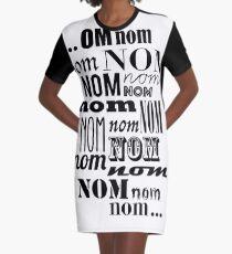 Om Nom Nom Graphic T-Shirt Dress