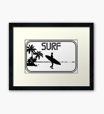 Surf Sticker Framed Print