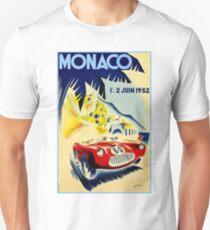 MONACO GRAND PRIX; Vintage Auto Racing Print Unisex T-Shirt