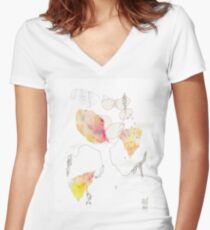 Grow #7 Women's Fitted V-Neck T-Shirt