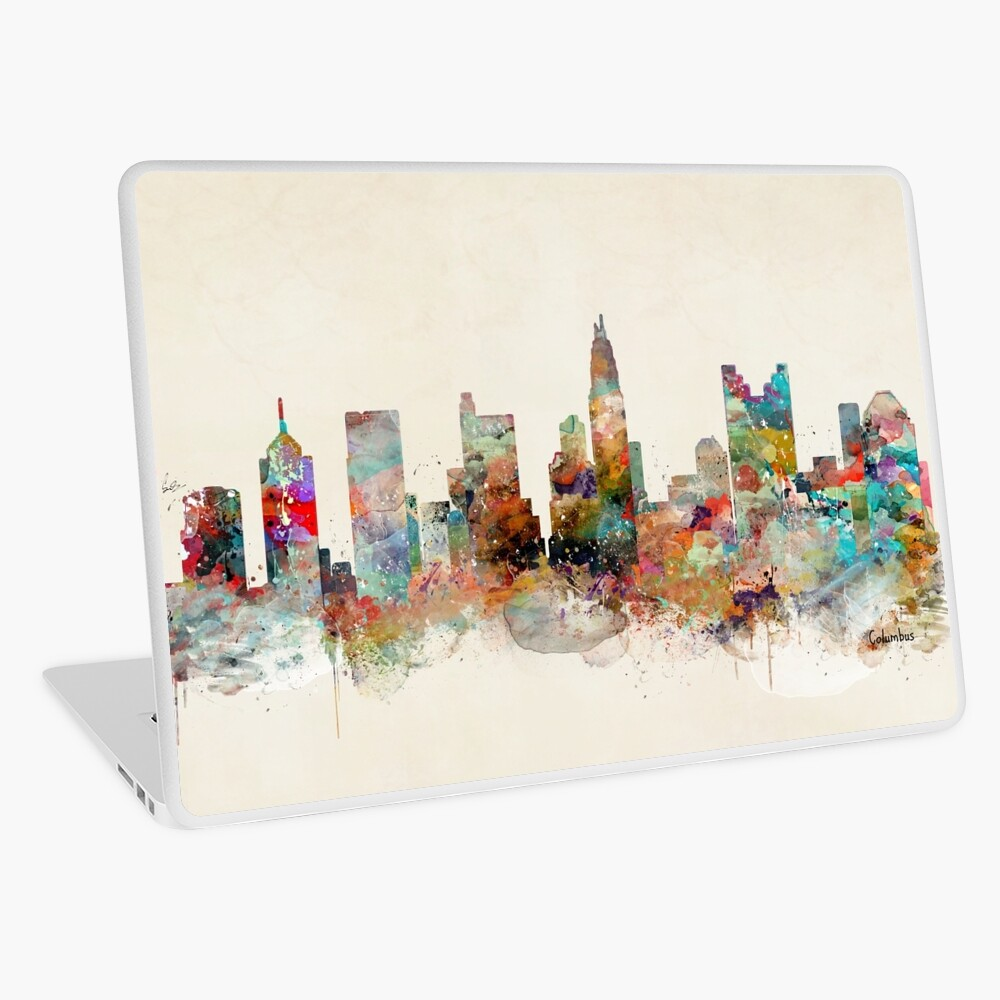 columbus ohio skyline Laptop Skin