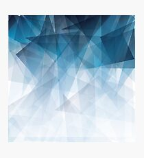 Ice Blue Fractals Photographic Print