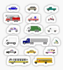 Street Vehicles - The Kids' Picture Show - 8-bit Sticker