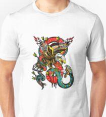Traditional Eagle VS Snake Tattoo Design Unisex T-Shirt