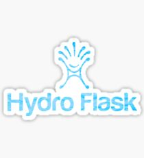 Hydro Flask with water background  Sticker
