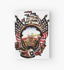 American Navy Ship Eagle Tattoo design Hardcover Journal