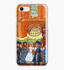 KLEZMER BAND PLAYS AT JEWISH WEDDING UNDER THE CHUPA iPhone Case/Skin