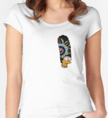 Marge tv show all over print tattoo design Women's Fitted Scoop T-Shirt