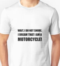 Snore Motorcycle Unisex T-Shirt