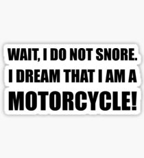 Snore Motorcycle Sticker
