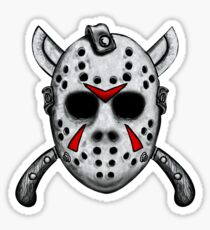 Friday the 13th Jason Mask Sticker